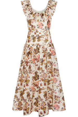 ULLA JOHNSON Kvinder Midikjoler - Coretta floral organza midi dress