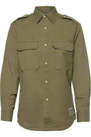 Replay Shirt Langærmet Skjorte Grøn