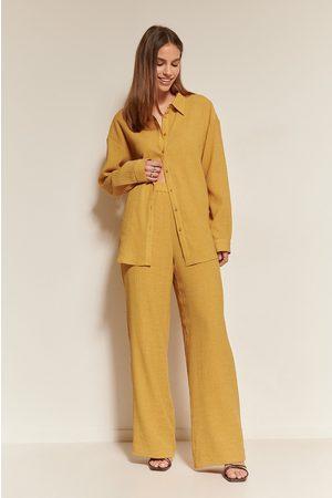 NA-KD Kvinder Bukser - Bukser Med Struktur