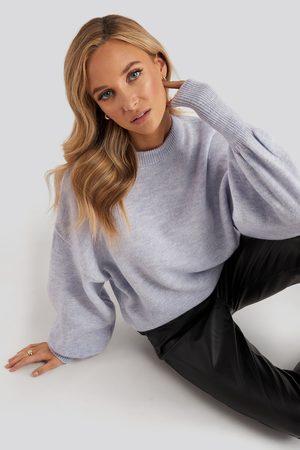 NA-KD Kvinder Strik - Wool Blend Balloon Sleeve Sweater