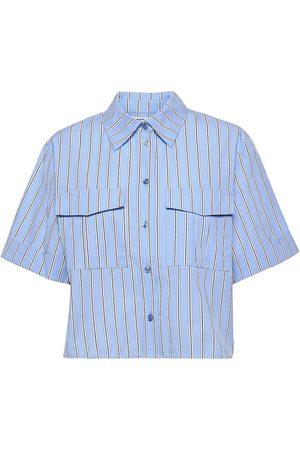 Lovechild Kvinder Kortærmede skjorter - Calliope Shirt Kortærmet Skjorte Blå