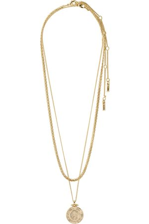 Pilgrim Necklace Nomad Gold Plated Accessories Jewellery Necklaces Dainty Necklaces