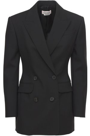 Alexander McQueen Tailored Double Breasted Wool Blazer