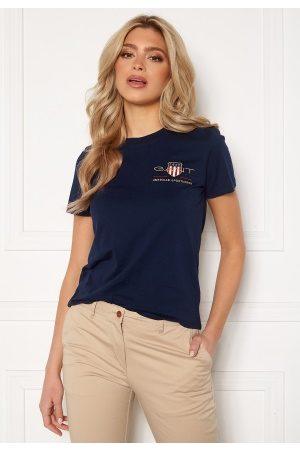 GANT Kvinder Kortærmede - Archive Shield SS T- Shirt 433 Evening Blue M