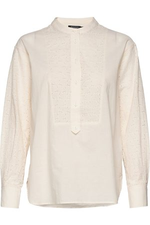 Soaked in Luxury Slounce Shirt Ls Langærmet Skjorte Creme