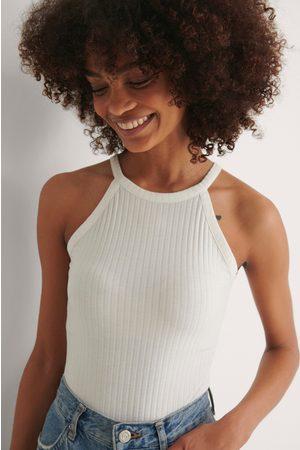 NA-KD Kvinder Bodies - Højhalset Ribbet Body I Genanvendt Materiale