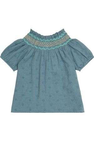 Louise Misha Piger Bluser - Tyra embroidered cotton blouse
