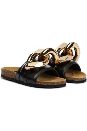 JW Anderson Kvinder Klipklapper - Embellished leather slides