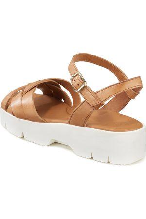 Paul Green Kvinder Pumps sandaler - Plateausandaler justerbar rem Fra brun