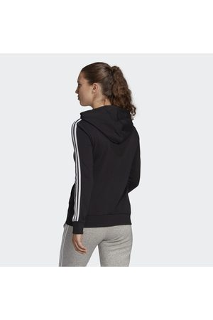 adidas Essentials French Terry 3-Stripes Full-Zip hættetrøje