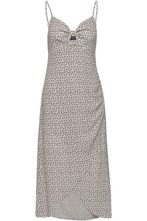 French Connection Aura Ditsy Vrna Crp Tie Midi D Dresses Cocktail Dresses