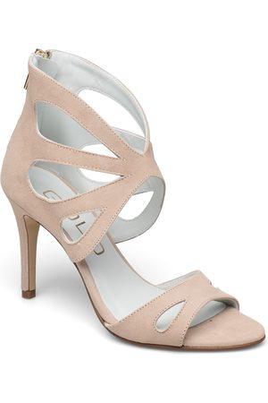 GOLD Kvinder Pumps sandaler - 25331 Sandal Med Hæl Lyserød