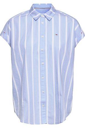 Tommy Hilfiger Tjw Relaxed Stripe Shirt Ss Kortærmet Skjorte