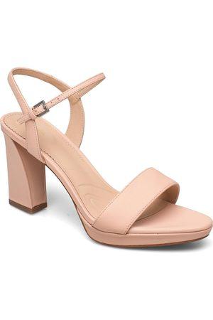 Clarks Vista Strap Sandal Med Hæl Lyserød