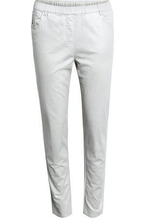 Brandtex Bukser med elastik i linningen - White - 78 cm / 34