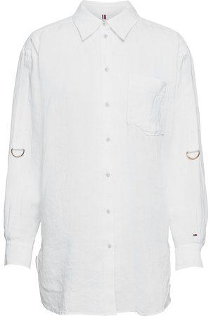 Tommy Hilfiger Kvinder Langærmede skjorter - Abo Org Linen Boyfriend Shirt Ls Langærmet Skjorte