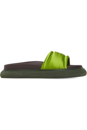 The Attico Kvinder Sandaler - 20mm Noah Padded Satin Slide Sandals