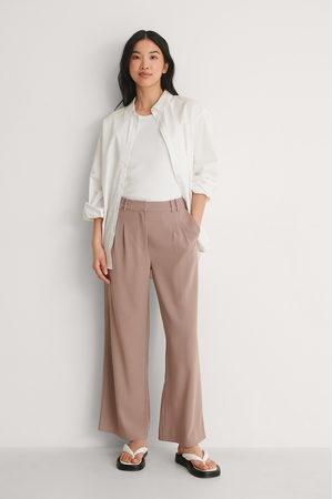 NA-KD Kvinder Habitbukser - Genanvendte Loose Fit Bukser