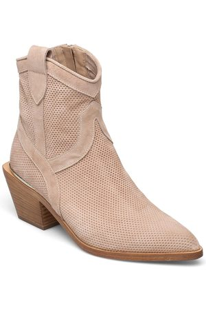 Laura Bellariva Ankle Boots Shoes Boots Ankle Boots Ankle Boot - Heel Lyserød