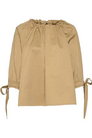 MOTHER OF PEARL Kvinder Langærmede - Bobbie Raglan Sleeve Top Bluse Langærmet Beige