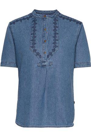 Superdry Grandad Blouse Blouses Short-sleeved