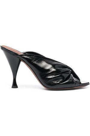 L'Autre Chose Drapy Sandals in leather