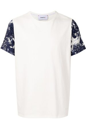 Ports V T-shirt med korte ærmer og maling-sprøjt