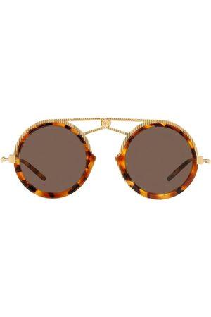 Dolce & Gabbana Aviator-solbriller med skildpaddeeffekt