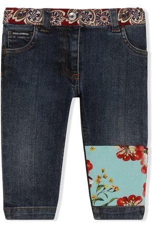 Dolce & Gabbana Skinny-jeans med patchwork-detalje