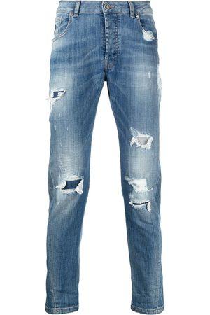 John Richmond Mick jeans med smal pasform og slitageeffekt