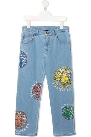 VERSACE Jeans med lige ben og Medusa-tryk