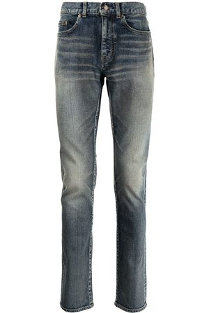 Saint Laurent Skinny-jeans med slitageeffekt
