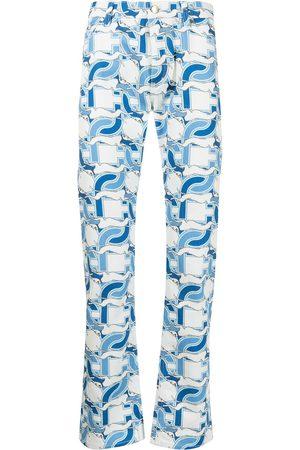 Casablanca Smalle jeans med monogramtryk