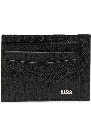 HUGO BOSS Kortholder i læder med logotryk