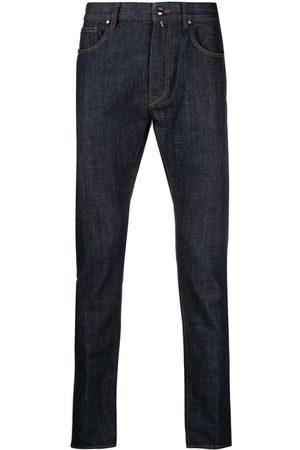 Incotex Strækbare jeans i bomuld med tætsiddende pasform