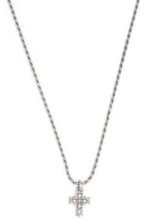 EMANUELE BICOCCHI Halskæde med kors-vedhæng med diamanter