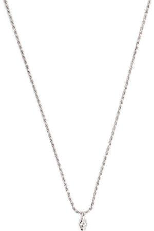 EMANUELE BICOCCHI Halskæde med diamantudsmykket øje og dødningehovedvedhæng