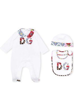Dolce & Gabbana Blomstret pyjamassæt med logo