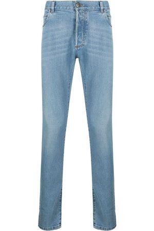 Balmain Jeans med smal pasform og broderet monogram