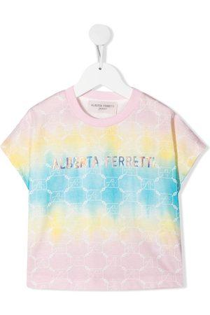 Alberta Ferretti T-shirt med logo- og batiktryk