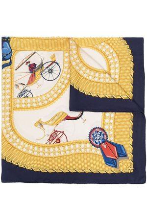 Hermès Pre-owned silketørklæde med hestevogn-tryk
