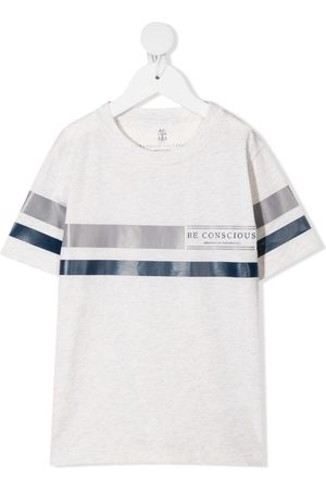 Brunello Cucinelli T-shirt med logotryk