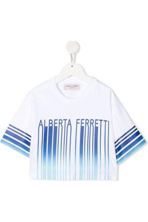 Alberta Ferretti T-shirt med logotryk