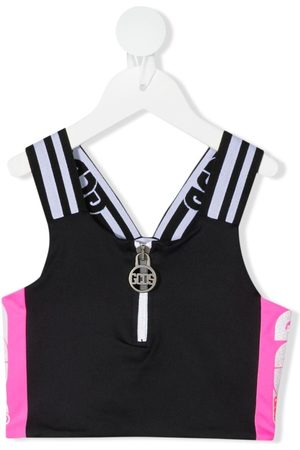 GCDS Piger Toppe - Cropped top med colourblocking