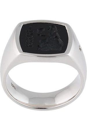 TOM WOOD Polsret Athena onyx-ring i sterlingsølv