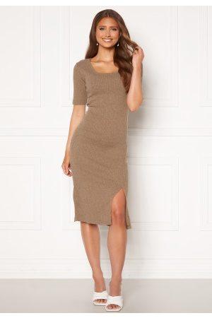 Trendyol Kvinder Strikkede kjoler - Knit Midi Dress Bej/ M