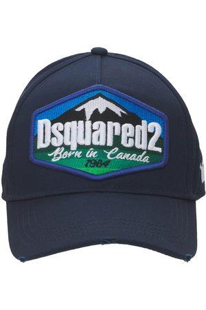Dsquared2 Logo Patch Cotton Gabardine Baseball Hat