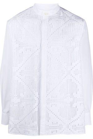 VALENTINO Mænd Langærmede skjorter - Skjorte i pointelle-strik