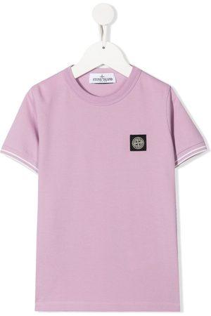 Stone Island T-shirt i strækbar bomuld med logomærke