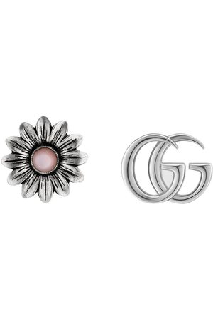 Gucci Mænd Øreringe - Double G flower stud earrings